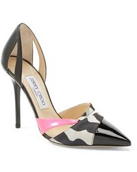 Jimmy Choo 'Marcine' D'Orsay Leather Pump - Lyst