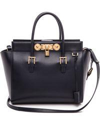 Versace Leather Handbag Dark Blue - Lyst