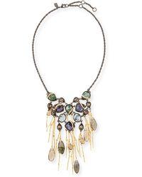 Alexis Bittar Multi-stone Bib Necklace - Lyst