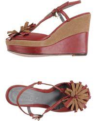 Manila Grace Sandals red - Lyst