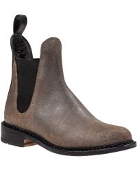 Rag & Bone Dartford Chelsea Boot Metal Taupe Leather - Lyst