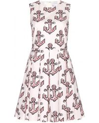 RED Valentino Printed Cotton Dress - Lyst