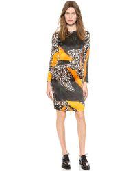 Acne Studios Noble Printed Silk Dress Dark Terrazzo Print - Lyst