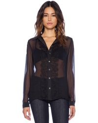 Equipment Gabby Lace Mix Blouse - Lyst