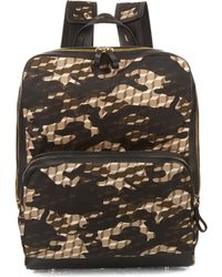 Pierre Hardy - Cube And Camouflage-print Nylon Backpack - Lyst