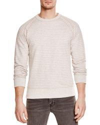 Billy Reid - Aaron Inverted Stripe Sweatshirt - Lyst