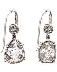 NSR Nina Runsdorf - Diamondslice Whitegold Earrings - Lyst