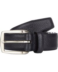 Barneys New York Caviargrained Leather Belt - Lyst