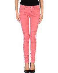 Roy Rogers Pink Denim Pants - Lyst