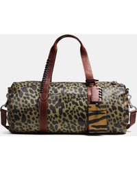 ee55ffa6784 COACH - Large Gym Bag In Printed Pebble Leather - Lyst