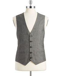 Calvin Klein Gray Heathered Vest - Lyst