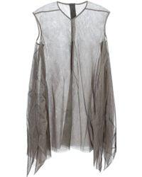Rick Owens Oversize Asymmetric Dress - Lyst