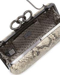 Diane Von Furstenberg Sutra Snake-embossed Clutch Bag - Lyst
