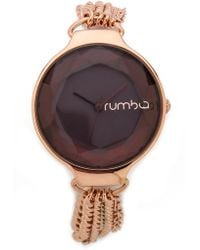 Rumbatime Orchard Chain Watch - Black Diamond - Lyst