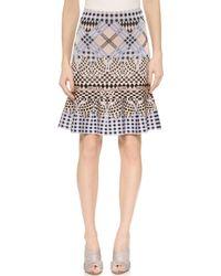 Temperley London Reef Knit Skirt - Pink/Blue - Lyst