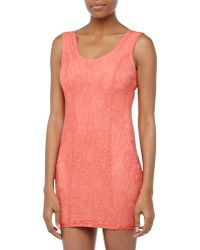 Lovers + Friends Sleeveless Lace Formfitting Dress - Lyst