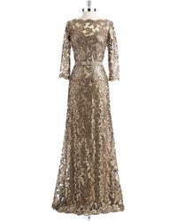 Tadashi Shoji Sequin Gown - Lyst