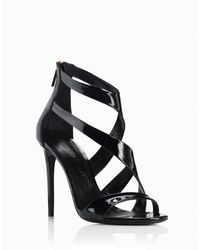 Tamara Mellon Tiger Patent Sandal - 105Mm black - Lyst
