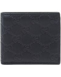 Gucci Black Leather Wallet - Lyst