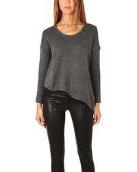 Helmut Lang Asymmetrical Hem Pullover Sweater - Lyst