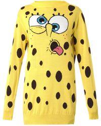 Moschino Spongebob Wool Sweater - Lyst