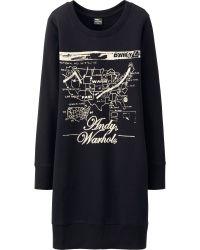 Uniqlo Women Sprz Ny Sweat Long Sleeve Dress Andy Warhol - Lyst