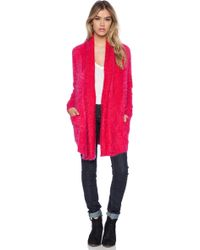 Mink Pink Snuggle Up Cardigan - Lyst