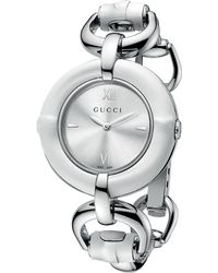 Gucci Ladies Stainless Steel Bamboo Watch - Lyst