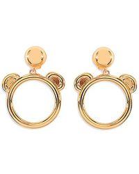 Moschino Teddy Bear Earrings - Shiny Gold - Lyst