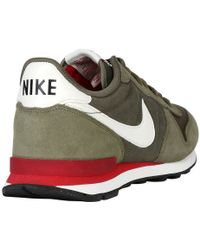sports shoes 2c97a ee132 nike internationalist green red