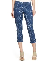 Ralph Lauren Lauren Floral Print Cuffed Chino Pants - Lyst