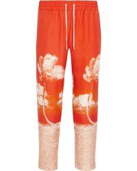 Orlebar Brown - Allyce Printed Silk Straight-leg Pants - Lyst