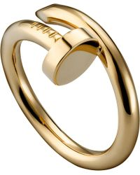 Cartier Juste Un Clou 18Ct Yellow-Gold Ring - Lyst