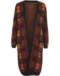 Topshop Brushed Check Cardigan - Lyst