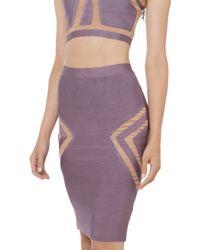 Akira Black Label - That's Meshed Up Lavender Skirt - Lyst