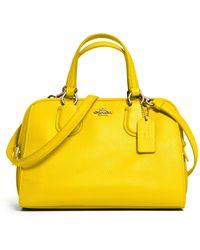 Coach Nolita Mini Satchel yellow - Lyst