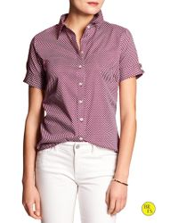 Banana Republic Factory Non-Iron Fitted Shirt - Lyst