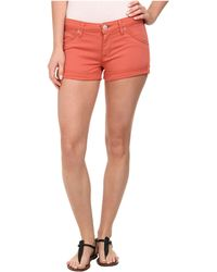 Hudson Hampton Cuffed Shorts In California Poppy - Lyst