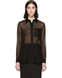 Altuzarra Black Sheer Gingham Chicka Shirt - Lyst