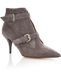 Tabitha Simmons Grey Fitz Bootie - Lyst