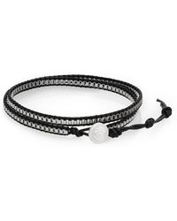 Jan Leslie - Leather Wrap Bracelet - Lyst