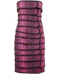 Christopher Kane Snake Print Bandage Dress - Lyst