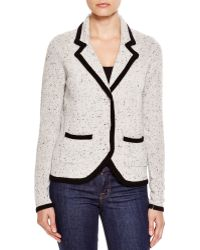 C By Bloomingdale's - Contrast Trim Cashmere Blazer - Lyst
