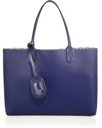 Gucci Reversible Gg Medium Leather Tote blue - Lyst