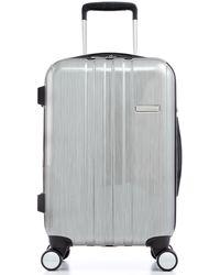 "Calvin Klein Bridgehampton 21"" Carry On Expandable Hardside Spinner Suitcase silver - Lyst"