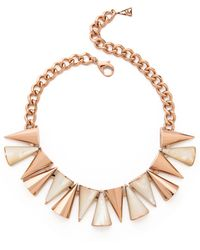 Sarah Magid Large Mother Of Pearl Cone Necklace Mother Of Pearl - Lyst