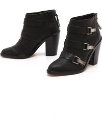 L.a.m.b. Toby Buckle Booties Black - Lyst