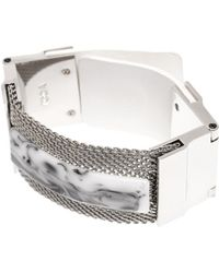 Toga - Mesh And Marble-Effect Stone Cuff - Lyst