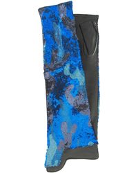 Thomasine Gloves | Dublin Mitaine Long Camouglafe Sequin Blue | Lyst
