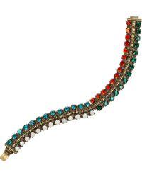 Dannijo Giulia Oxidized Gold Tone Swarovski Crystal Bracelet - Lyst